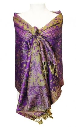 Purple Paisley Pashmina available on Amazon