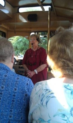 Barbara Hill, tour guide and delightful lady.