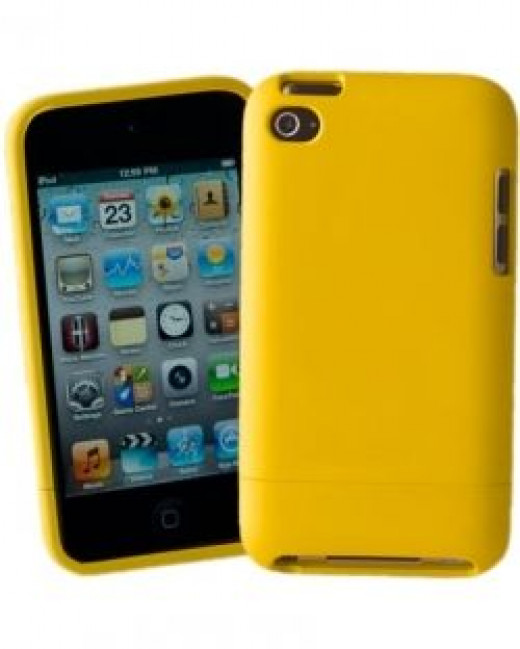 Yellow Slider Case for iPod Touch 4G