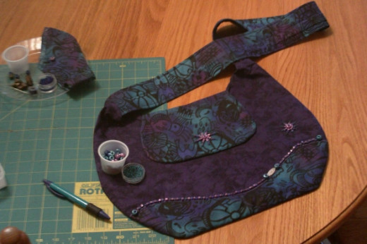 Handcrafted - Indigo Purple with beaded trim