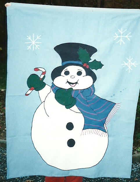 Flags for fun - snowman light