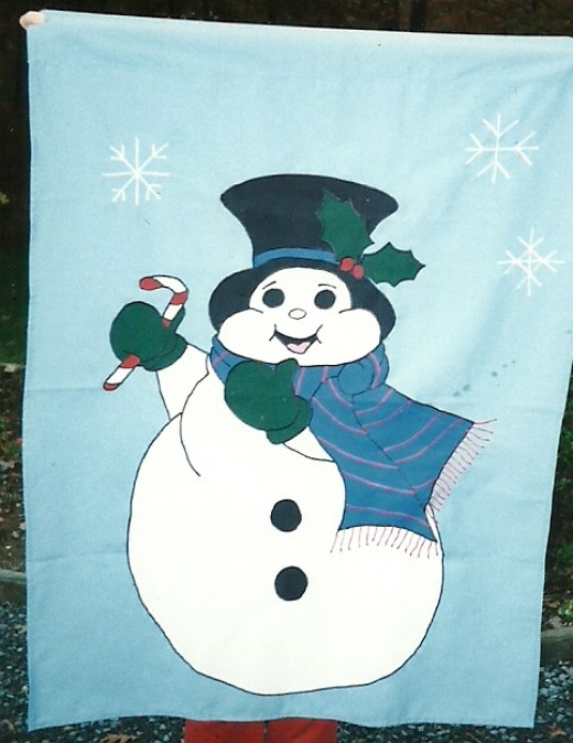 Flags for fun - snowman light