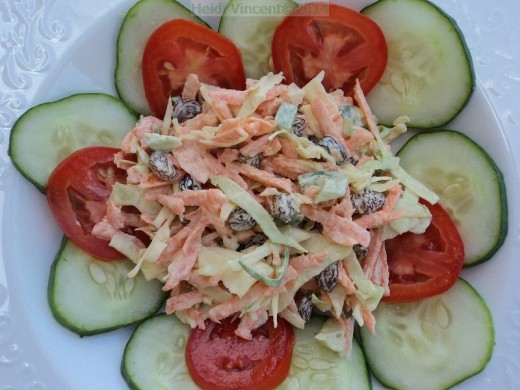 Cole Slaw - Vegetable Salad - Vegetarian Recipes - Salad Recipes