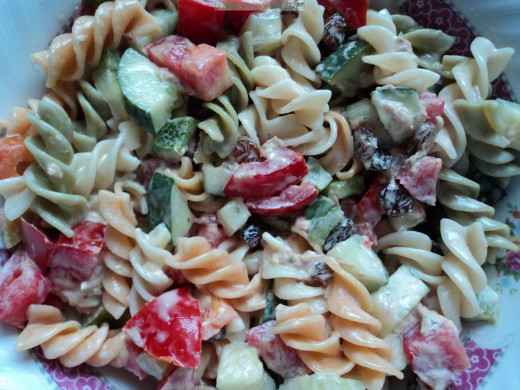 Tri Colour Rotini Pasta Recipe - Pasta recipes - Vegetarian recipes - Vegan recipes - Vegetable recipes