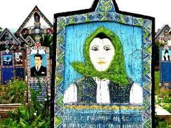 The Merry Cemetery-headstones