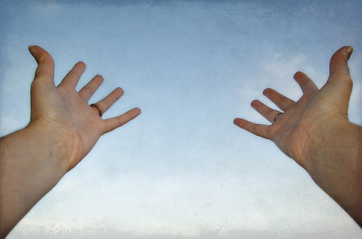 Giving Hands - Raised Hands