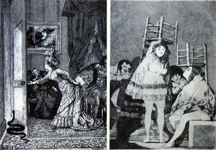 The pictures of Max Ernst and Francisco Goya used by Sigmar Polke