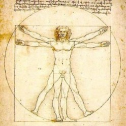 Leonardo da Vinci drawings - The Vitruvian Man