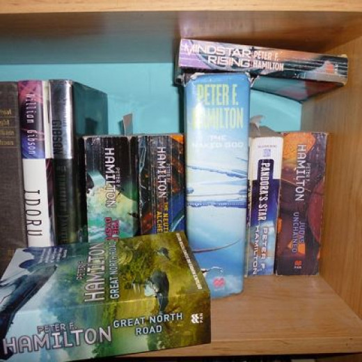 My Peter F Hamilton Collection (part of it....)