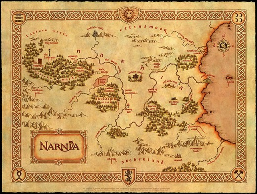 Map of Narnia - C. S. Lewis