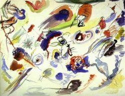 first abstract art by kandinsky