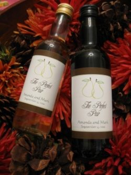 Wedding Mini Wine Bottle Favors