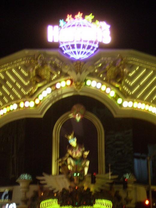 Fool presiding over entrance to Harrah's Casino in Las Vegas, Nevada