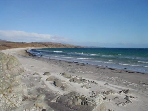 Stunning view around Claggan Bay on the Isle of Islay, Scotland