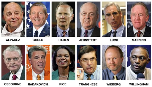 College Football Playoff selection committee in 2014.