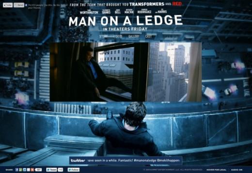 Man On a Ledge Website