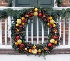 Fruit & Pine Cone Christmas Wreath by Tobyotter