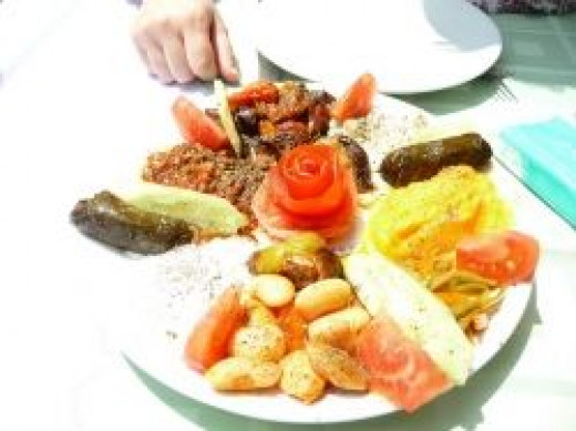 meze appetizers for ouzo