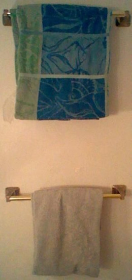 Hang It Up - Depending on space the second fold from above may not be necessary.