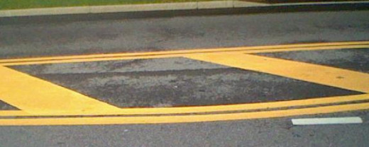 The lines on the road