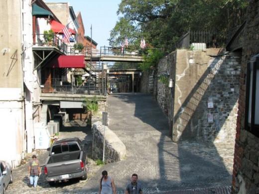 River St. back alley