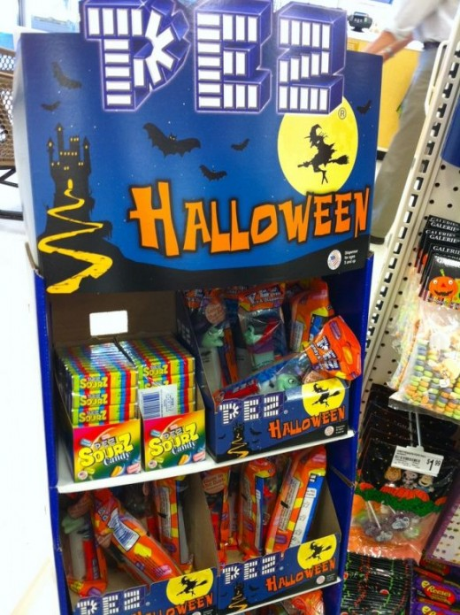 Halloween Pez in the Candy Aisle!