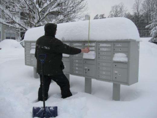 Measuring the snow! © _rockinfree