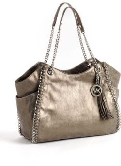 Michael Kors Chelsea Metallic Leather Tote Bag