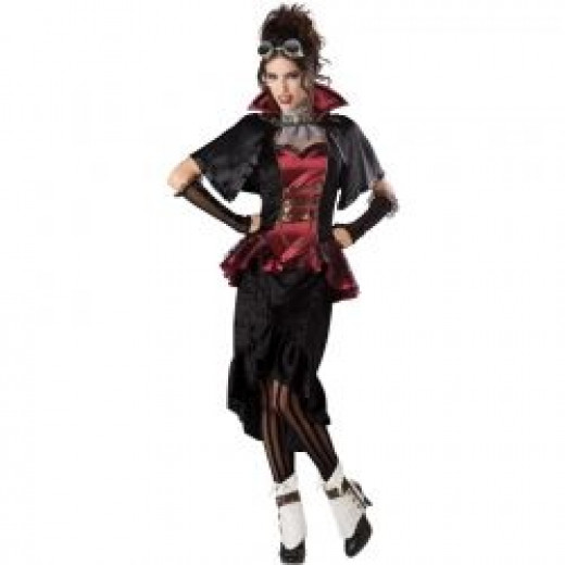 Steampunk Victorian Vampiress Lady Costume