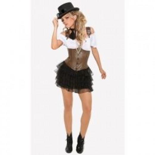 Racy Steampunk Rose Lady Costume