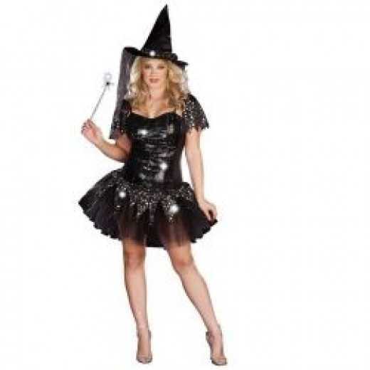 Starry Night Witch Plus Costume