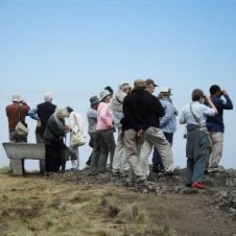 tour group in the Simien Mountains