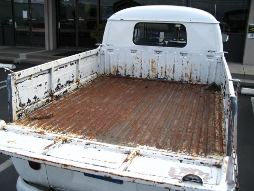 This old VW bed has seen better days, but once the rust is removed, a fresh coating will make it look new and protect it.