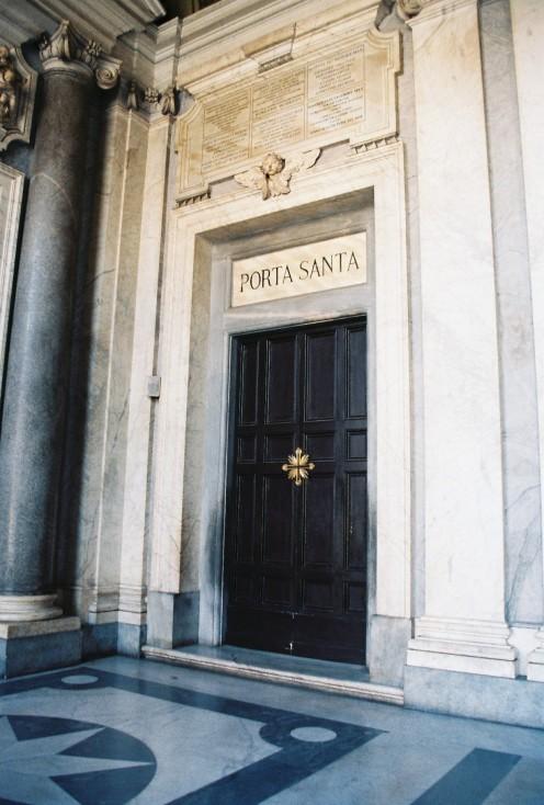 """""""Holy Doors"""" at St. Mary Major."""