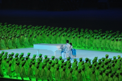 Lang Lang at the 2008 Beijing Olympics Opening Ceremony © FMWRC Image Archive