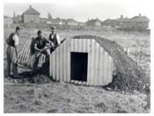 An Anderson shelter - they were outside, and set partly into the ground.