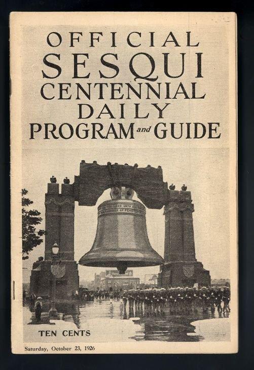 1926 Sesqui-centennial Program