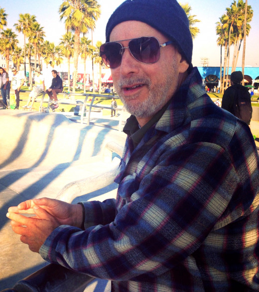 The non-famous Mark Tulin at Venice Beach, California.