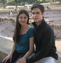 my boyfriend and me at the Fort Worth Water Gardens