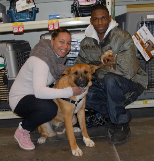 Cinnamon just became a part of this beautiful family thanks to Latoya and Joel.