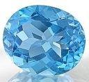 Swiss blue topaz Oval
