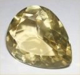 Imperial, or Golden Topaz pear gemstone