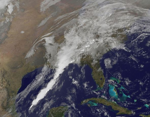 NASA Satellite Photo Severe Weather