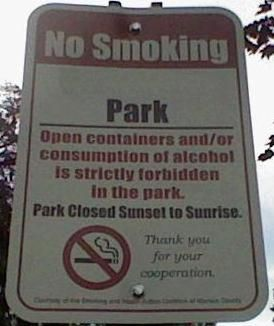 Remember there are rules to follow when you visit a park