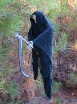 Watch out as you walk along our Haunted Halloween Trail on Halloween Night...as the Grim Reaper may be waiting for you in the dark!