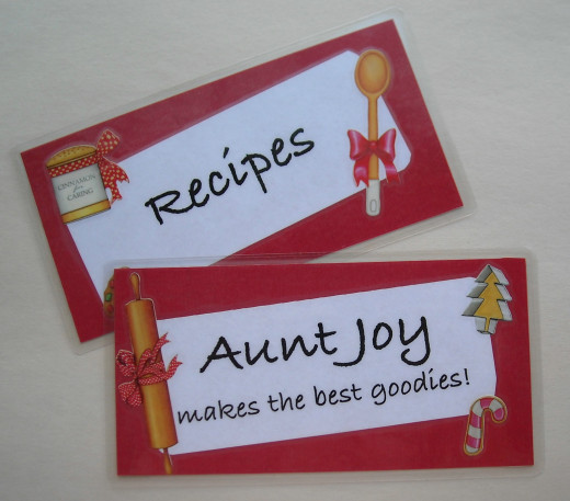 Cookbook Bookmarks