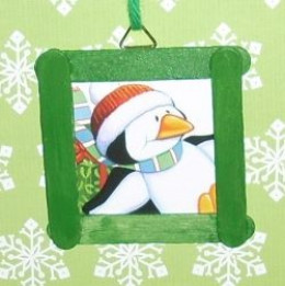 Top 10 popsicle stick christmas ornament crafts for Popsicle stick picture frame christmas
