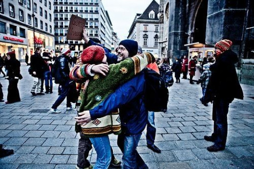 Hugs in Vienna
