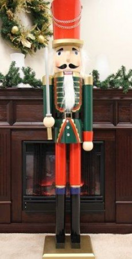 Life size nutcrackers and toy soldiers for 4 foot nutcracker decoration