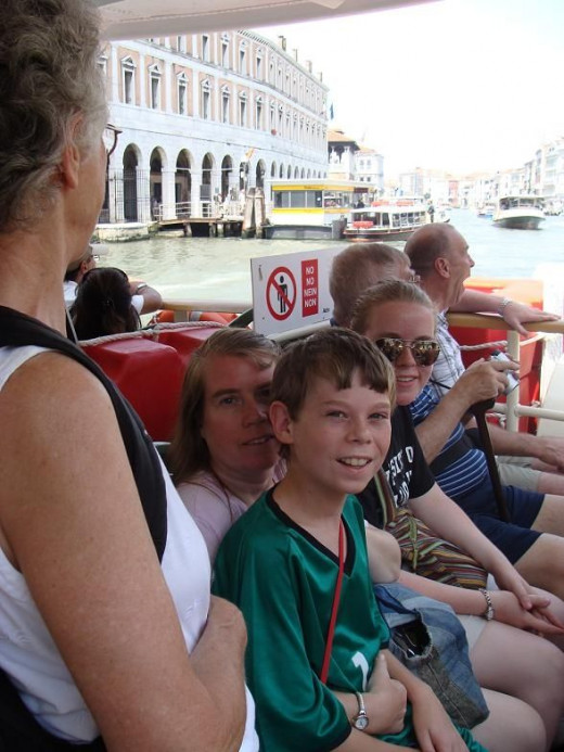 The water taxi #1 took us down the Grand Canal.
